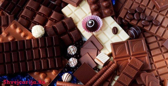 Виды шоколада из Швейцарии