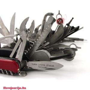 Структура швейцарских ножей