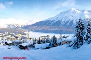 Горнолыжный курорт Санкт-Мориц. St. Moritz