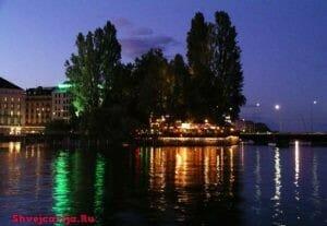 Остров Руссо в Женеве